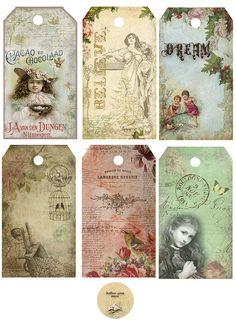 ephemera #paperie #printables #shabbychic #vintage #tags