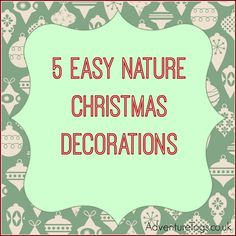 5 easy nature Christmas decorations