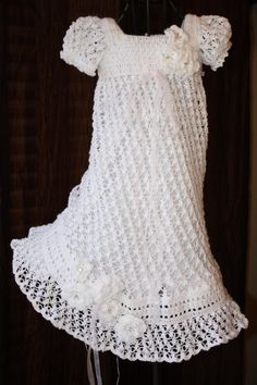 crochet blessing dress