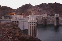 The top of Hoover Dam.