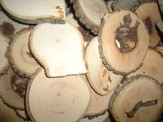 50 hickory  3to 4 rustic wood slices  for by ChurchHouseWoodworks, $13.95 #Wood #Slices #Tree #cookies #rustic #wedding