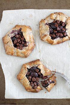 Gluten Free Dark Chocolate Cherry Hazelnut Galettes | Girl Versus Dough