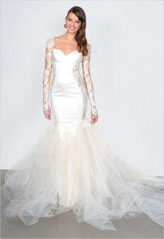 Galia Lahav 2015 Lace Sleeved Wedding Dress http://www.weddingchicks.com/2014/06/12/galia-lahav-couture-spring-2015-collection-2/