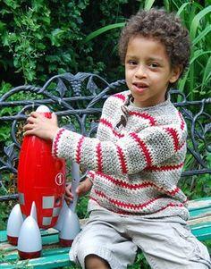 Crocheted Boy's Sweater - Crochet Me