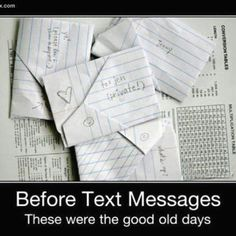 The good old days