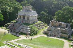 Jungle pyramids, Palenque, Mexico