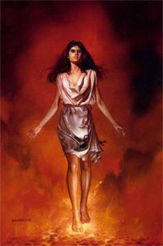 O maior mérito de Hestia (Vesta, entre os romanos) e ter sido a única, entre as divindades olímpicas, que nunca participou de guerras ou disputas. Além disso, assim como Artemis e Atena, ela sempre resistiu ao assedio amoroso de deuses, titãs e outros. Assim, depois do destronamento de Cronos, quando Posídon e Apolo apareceram como pretendentes rivais, ela jurou pela cabeça de Zeus que permaneceria virgem para sempre.