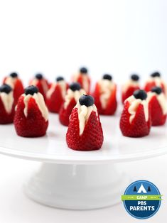 Cheesecake Stuffed Strawberries Recipe | Kitchen Explorers | PBS Parents | PBS