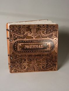Copper Journal - Fancy / Victorian Journal Etched Metal Book