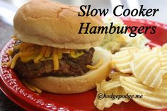 Easy Slow Cooker Hamburgers