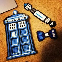 Doctor Who creations perler beads by Chloe Alizabeth