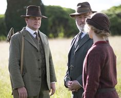 Lord Grantham returns in the 2012 Christmas special of Downton Abbey alongside new addition Shrimpie Flintshire who is a minister with the Foreign Office and Lady Rose.