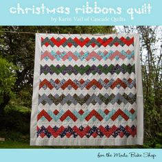 Christmas Ribbons QuiltTutorial on the Moda Bake Shop. http://www.modabakeshop.com