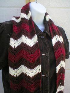 Zig Zag Chevron Scarf zig zag, crochet scarv, infinity scarfs, crochetknit chevronrippl, scarves, zag chevron, chevron scarf, crochet patterns, scarf pattern
