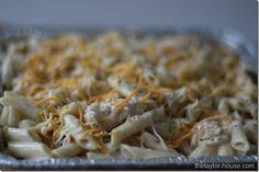 Freezer Meals: Chicken Alfredo Pasta