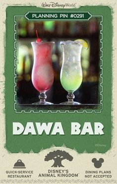 Walt Disney World Planning Pins: Dawa Bar