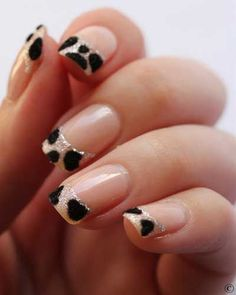 animals, french manicures, cheetah nails, leopard nails, nail arts, leopards, french tips, animal prints, leopard prints
