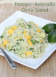 Mango Avocado Chicken with Orzo Salad | 5DollarDinners.com