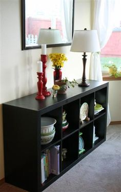 Great use of a cheap Ikea bookcase.