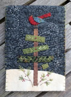 postcard quilts, design wool, quilted postcards, pillow patterns, felt christmas patterns, appliqued pillows, appliqu pattern, felt applique, wool applique patterns