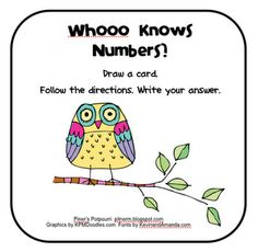 Pitner's Potpourri: Whooooo Can Work with Numbers? -- Freebie - Add and Subtract 10 and 100 with 3-digit numerals
