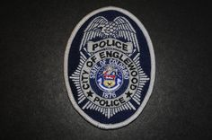 Englewood Police Jacket Patch, Arapahoe County, Colorado