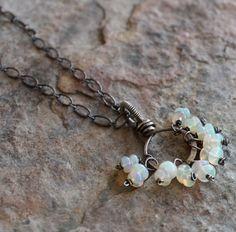 OPAL necklace Opal jewelry OCTOBER birthstone by angryhairjewelry