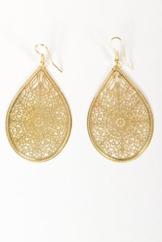 Intricate Tear Drop Earrings
