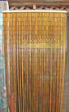 Bamboo Beaded Curtain. Divider. Boho Decor Instead of a Door. Beach House. Loft. on Etsy, $45.00