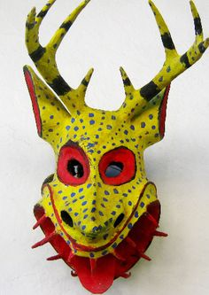 Cora Devil mask from Nayarit, Mexico