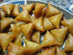 Moroccan almond Briouats (almond pastry with honey).