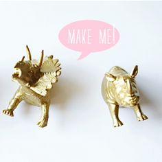 DIY party animal magnets are chic and fun all at the same time.