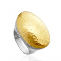 #jewelry #ring   Jordan Ring - Sterling silver and 24 carat yellow gold ring