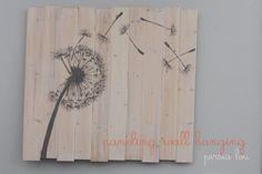 wood paneling wall art