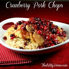 Cranberry Pork Chops - That's My Home