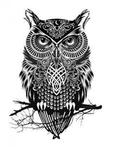 owl+tribal+tattoo+designs | Por si alguien quiere tatuarse un búho