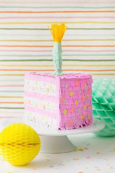 DIY // Birthday Cake Piñata
