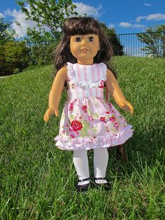 Doll Dress Sewing Pattern  18 inch Doll Clothes by tiedyediva, $3.50 fashion place, dress patterns, doll dresses, doll clothes patterns, news, american girls, sewing patterns
