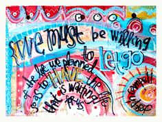 art journaling page by erin leigh