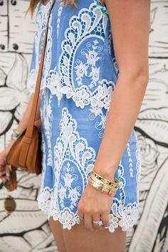 lace romper, summer styles, woman fashion, fashion ideas, summer lace, dress, blue lace, white lace, beauty blogs