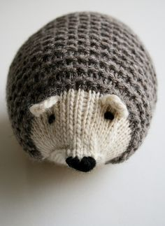 Whit's Knits: Knit Hedgehogs by the purl bee, via Flickr - free pattern!