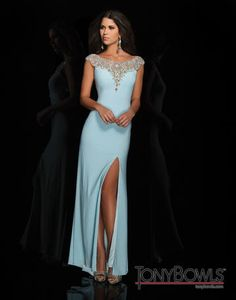 Tony Bowls Le Gala Cap Sleeves Pageant Gown style 114537