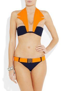 JETS BY JESSIKA ALLEN WHITE LABEL: Sensations collared bikini    Funky.