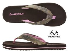 #Realtreecamo Women's Quizzical EVA Flip Flop by Payless $16.99  #camoshoes