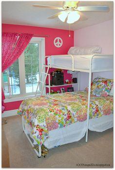 Tween bedroom, little girl's bedroom makeover
