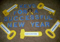 New Years bulletin board for Casey.    s