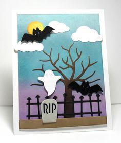 Cloud Cover-Up Die-namics, Spooky Scene Die-namics - Jody Morrow #mftstamps