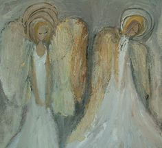 angel paint, angel art, angels, artwork