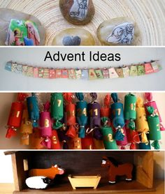 A collection of advent Ideas for kids