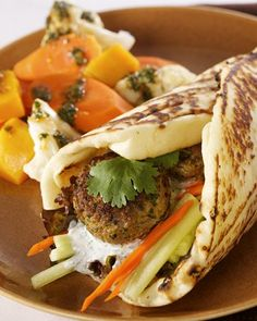 Indian Spiced Lamb Wraps